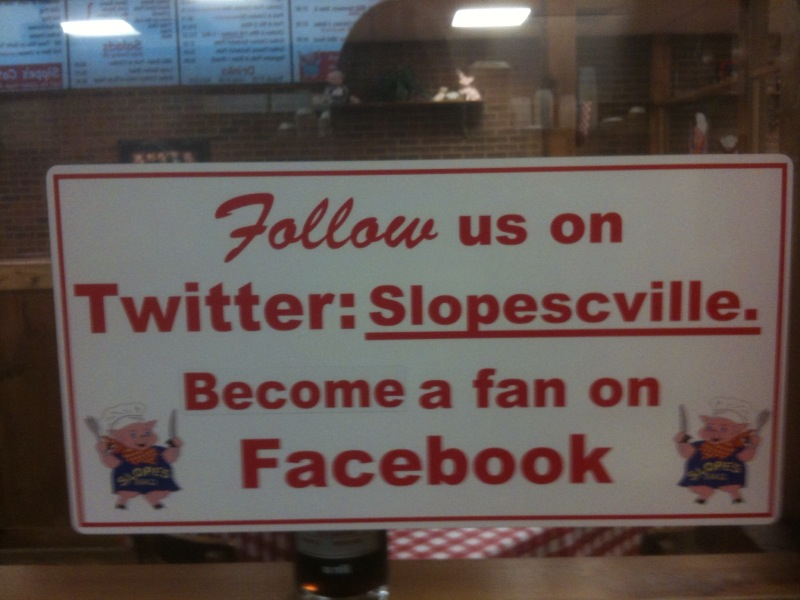 Slopes Carterville Sign about Twitter